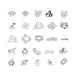 Sketches for logos or icons. Set for design Royalty Free Stock Image