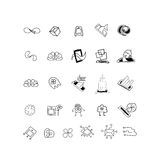 Sketches for logos or icons. Set for design Royalty Free Stock Images