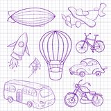 Sketches means of transport, vector illustration Royalty Free Stock Photography