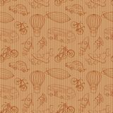 Sketches means of transport, vintage vector Royalty Free Stock Image