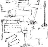 Sketches Of Sign Boards Royalty Free Stock Images
