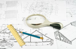 Free Sketches Of The Buildings Royalty Free Stock Photos - 23742308