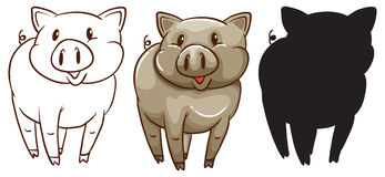 Sketches of a pig Royalty Free Stock Images