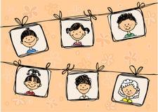 Sketches of smiling children,vector Stock Photos