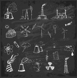 Sketches of  sources of energy Royalty Free Stock Photo