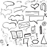 Sketches. Vector of illustration the sketch Stock Photos