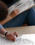 Sketching Royalty Free Stock Image