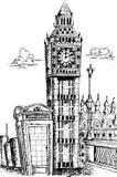 Sketching of big ben london Royalty Free Stock Image
