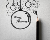 Sketching of Christmas ball concept Royalty Free Stock Image