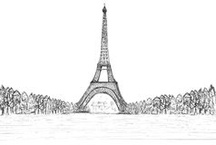 Sketching of eifel tower Stock Photo