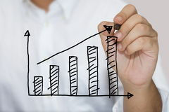 Sketching graph Stock Photo
