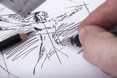 Sketching hand Royalty Free Stock Images