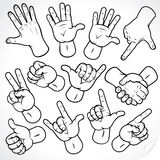 Sketching hands royalty free stock photography
