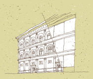 Sketching Historical Architecture in Italy Royalty Free Stock Photography
