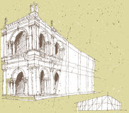 Sketching Historical Architecture in Italy Stock Photo