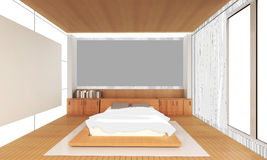 Sketching Interior bedroom Idea house and Decoration. / Drawing idea and concept royalty free illustration