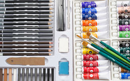 Sketching and Painting Art Set Stock Photo