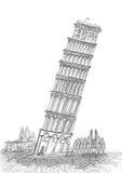 Sketching of Pisa in Tuscany royalty free illustration
