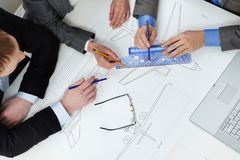 Sketching plane Stock Photography