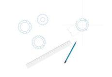Sketching in vector Stock Photos