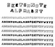 Sketchnote alphabet Royalty Free Stock Photography