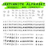 Sketchnote alphabet Royalty Free Stock Photo