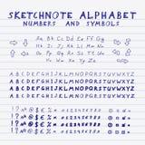 Sketchnote alphabet Stock Photos