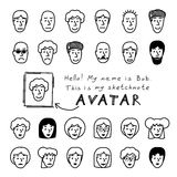 Sketchnote Avatars Stock Images