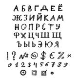 Sketchnote Russian Alphabet Stock Photography