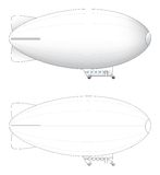 Sketchs of large blimp Royalty Free Stock Images