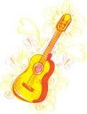 sketchy abstrakt gitarr Fotografering för Bildbyråer