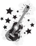 sketchy abstrakt gitarr Royaltyfri Bild