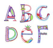 Sketchy alphabet design Royalty Free Stock Photography