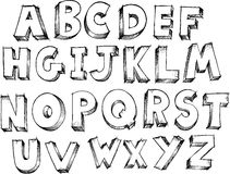 Sketchy Alphabet Vector Royalty Free Stock Photos