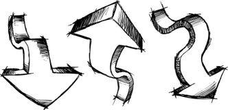 Sketchy Arrows Vector Illustration Royalty Free Stock Photo