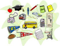 Sketchy Back to School Icons Stock Photos