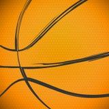 Sketchy Basketball Close Up Background stock illustration