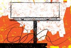 Sketchy Billboard Design. Sketchy, hand drawn billboard over an abstract background vector illustration