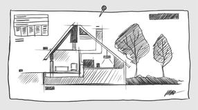 Sketchy blueprint Stock Photo