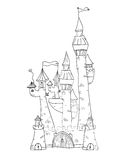 Sketchy Castle Vector Illustration Stock Images