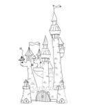 Sketchy Castle Vector Illustration Stock Images