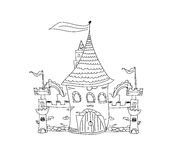 Sketchy Castle Vector Illustration Royalty Free Stock Images