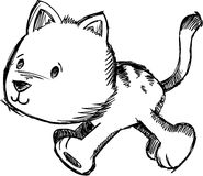 Sketchy Cat Vector Illustration Stock Photography