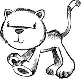 Sketchy Cat Vector Illustration Royalty Free Stock Images