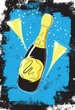 Sketchy Champagne Royalty Free Stock Photo