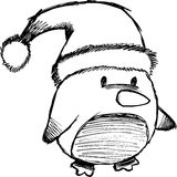Sketchy Christmas Penguin Vector Royalty Free Stock Image