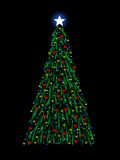 Sketchy Christmas tree Royalty Free Stock Images