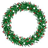 Sketchy Christmas wreath Stock Photography