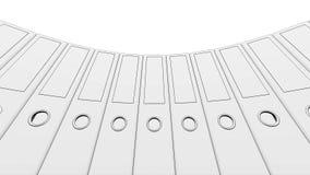 Sketchy circle of binders. 3D rendering. Sketchy circle of binders. 3D Stock Image