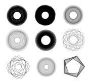 Sketchy circles illustration Stock Photography